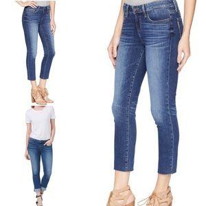 ⭕️SOLD⭕️Paige Skyline Skinny Crop Raw Hem Jeans